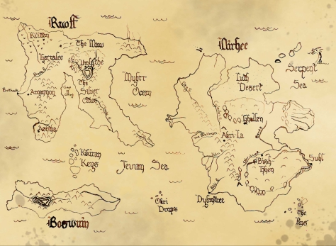 A map of Yrthull